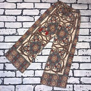 Angie Pants - Floral Print Wide Legged Casual Pants